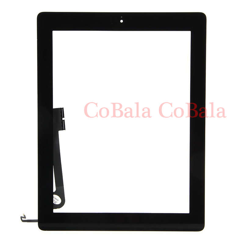 "10Pcs Touch Screen For iPad 4 2 3 4th Gen A1458 A1459 A1460 9.7"" LCD Outer Digitizer Front Glass Panel +Button+Adhesive"