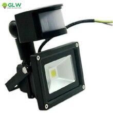 LED Flood Light 10W Outdoor Lamp PIR Motion Sensor Waterproof IP65 Floodlight Induction Light AC/DC 12V From US AU CA Stock цены