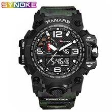 PANARS Men Sport Military Digital Watch 5 Bar Waterproof Shock LED Male Electronic Army WristWatch Camouflage Double Display стоимость