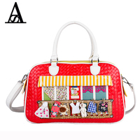 Aitesen Vintage Knitting Cartoon Pu Leather Handbags Louis Women Famous Luxury Brands Stella Tote Bags Michael