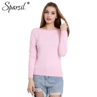 High Quality 2014 Cashmere Sweater Women Female Knitted Sweaters Long Sleeve Pullovers Slash Neck Sweater With