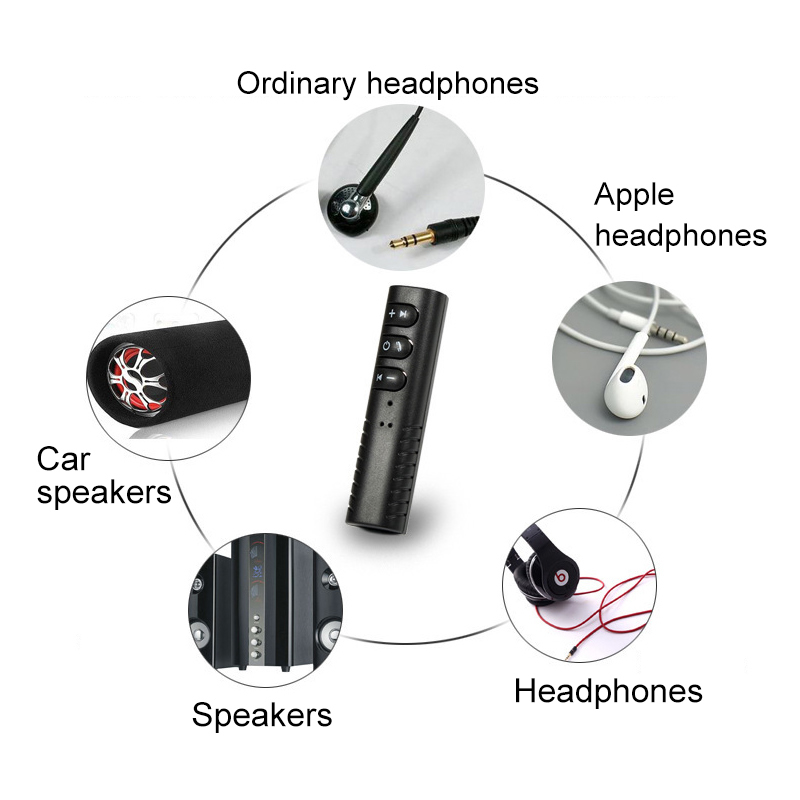 Wired Earphone Convert to Wireless Bluetooth Earphone with