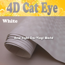 High Quality White 4D Cat Eye Car Wrap For Car Decoration Air Bubble Free Size:1.52*30M/Roll