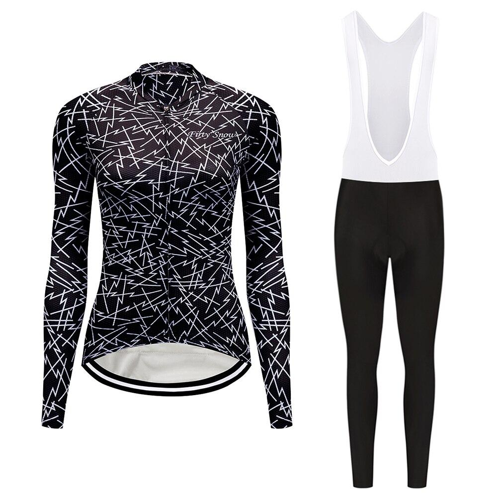 Women/'s Long Cycling Jersey Pants Set Bike Bicycle Sport Clothing Wear Suits