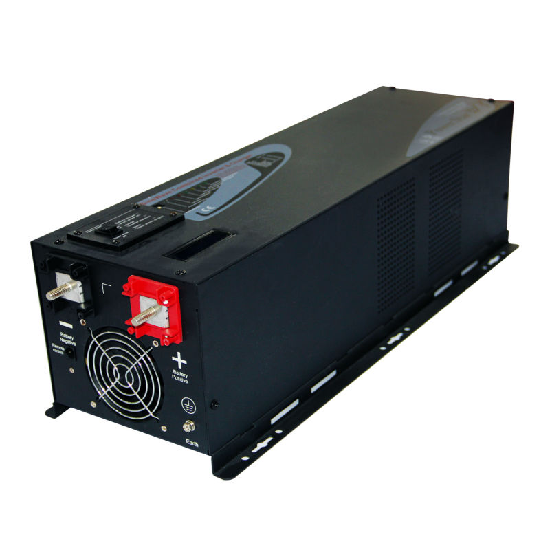 48V,6000W  Pure Sine Wave Off-grid Power Inverter With Charger ,Output 50Hz/60Hz ,100Vac-240Vac, For Solar System, Free Shipping solar power on grid tie mini 300w inverter with mppt funciton dc 10 8 30v input to ac output no extra shipping fee