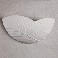Leaf Shape LED Wall Lamp Bedside Balcony Natural Gypsum Lamp Simple Modern Village Wall Lamp