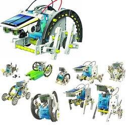 Hot 13 in 1 Solar Power Robot Kit DIY Toy Solar Powered Toys Transformation Robot Kit Educational Gift Toys for Children Boy