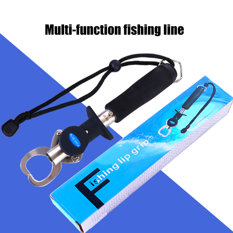 Digital Fish Grip Multifunctional Stainless Steel Pliers Gripper Grabber Fishing Tools With Scale Ruler Electronic Weighing