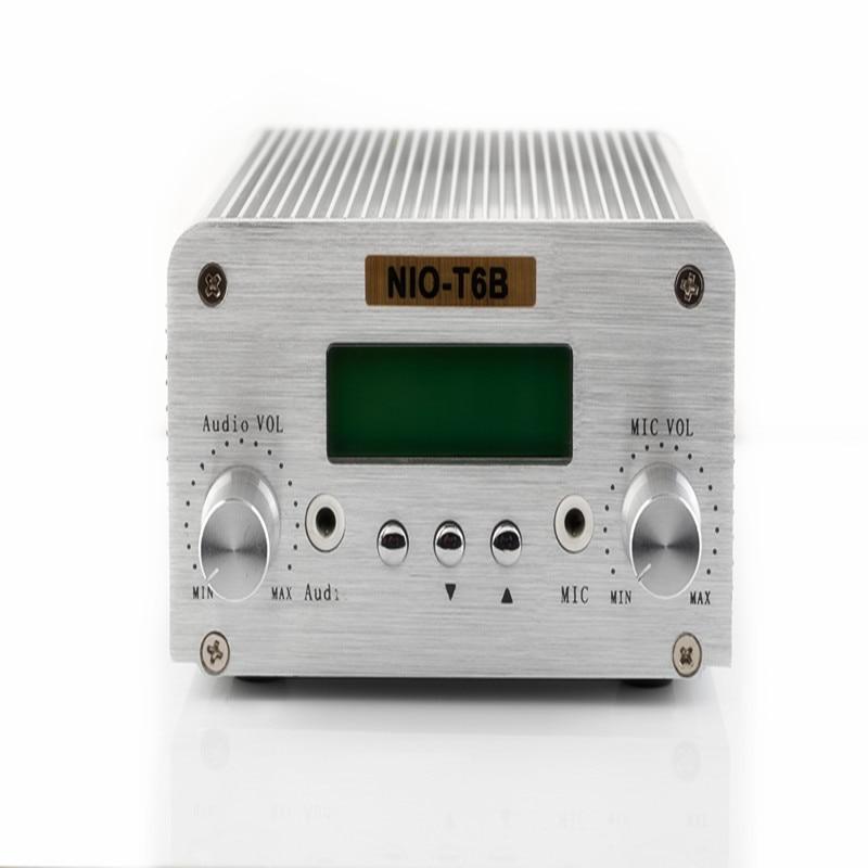 Free Shipping NIORFNIO NIO-T6B 1W/6W Wireless Transmitter Mini Power Radio Broadcasting PC Control Bluetooth Function free shipping wireless bluetooth nio t6b 1w 6w radio fm 6w power transmitter