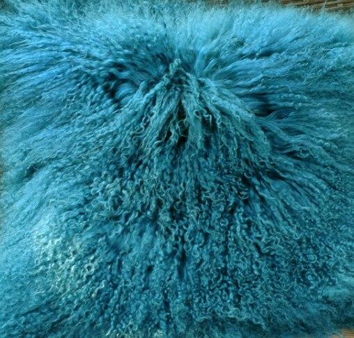 CX-G-B-51C настоящий монгольский овечка меховой жилет женский сексуальный короткий жилет зимнее пальто Меховая куртка - Цвет: lake blue