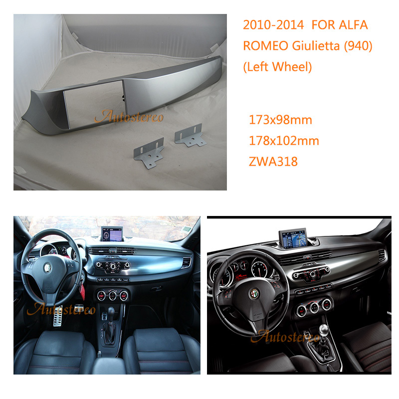 Car radio CD player install mount stereo dash kit for ALFA ROMEO Giulietta (940) 2010-2014 (Left Wheel)ZWNAV 11-318 shakespeare william rdr cd [lv 2] romeo and juliet