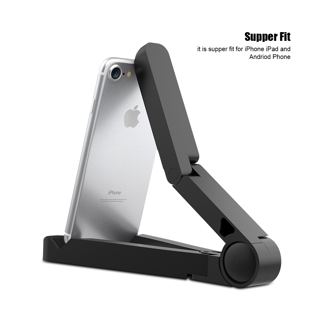 LERO Universal Folded Desktop Tablet Bracket Stand For ipad Mini For iphone 6 7 Plus For Samsung S6 S7 360 Degree Rotated