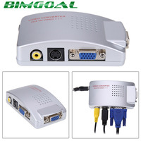 PC Laptop Composite Video TV RCA Composite S Video AV In To PC VGA LCD Out