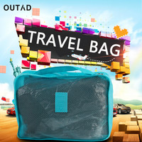 Multi Function 6pcs Set Travel Storage Bag High Capacity Luggage Clothes Tidy Organizer Pouch Portable Waterproof