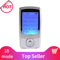 16 Modes Dual Output Health Care Body Massage Electric EMS Muscle Stimulator TENS Unit Electronic Pulse Physiotherapy Massager