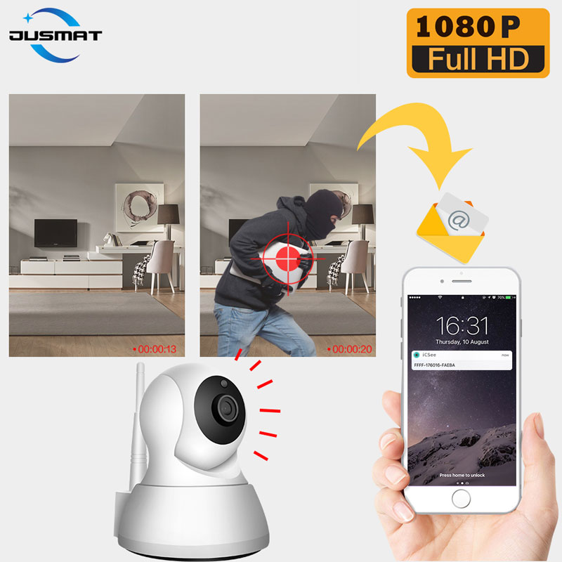 video surveillance Camera Home Security night infrared Network WiFi Camera Wireless baby monitor 64G tf card optional image