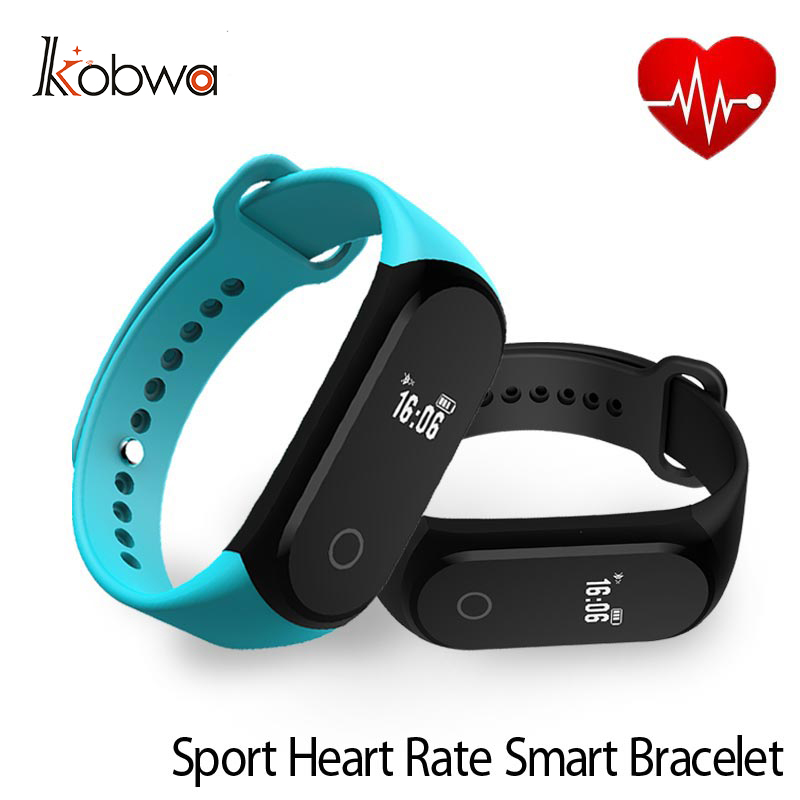 kobwa A16 Smart wristband sport Bluetooth 4 0 Heart Rate Sleep Monitor Pedometer Bracelet Waterproof For