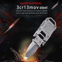 Couteau porte-clé portable EDC outil multi mini couteau de poche tactique couteaux pliants tactique multi-fonction couteau de survie en plein air