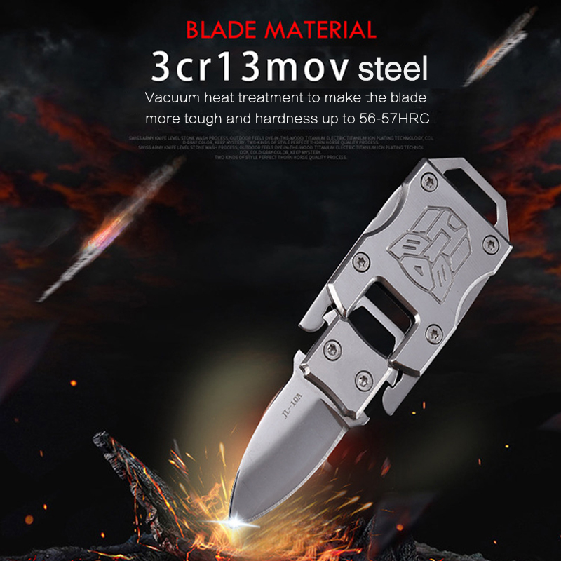 Portable Keychain Knife EDC Tool Multi Mini Pocket Knife Tactical Folding Knives Tactical Multi-function Outdoor Survival Knife