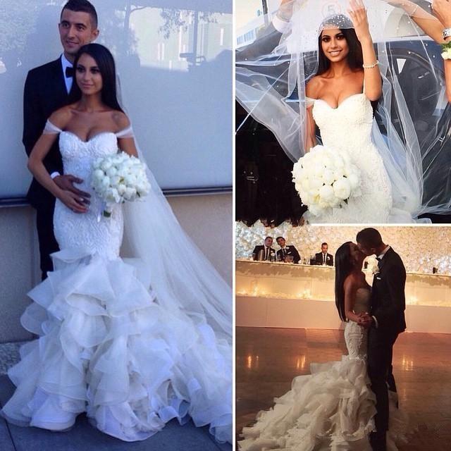Africa Mermaid Wedding Dresses Organza Bridal Gowns 2016 Court Train ...
