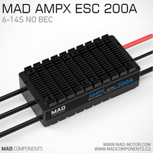 MAD AMPX ESC 200A 12 24S For DIY Large transportation Drones UAV DIY Quadcopter Hexcopter Octcopter