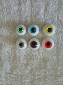 12 MMBJD/sd doll glass eyes unisex 4points 6 points and eight points