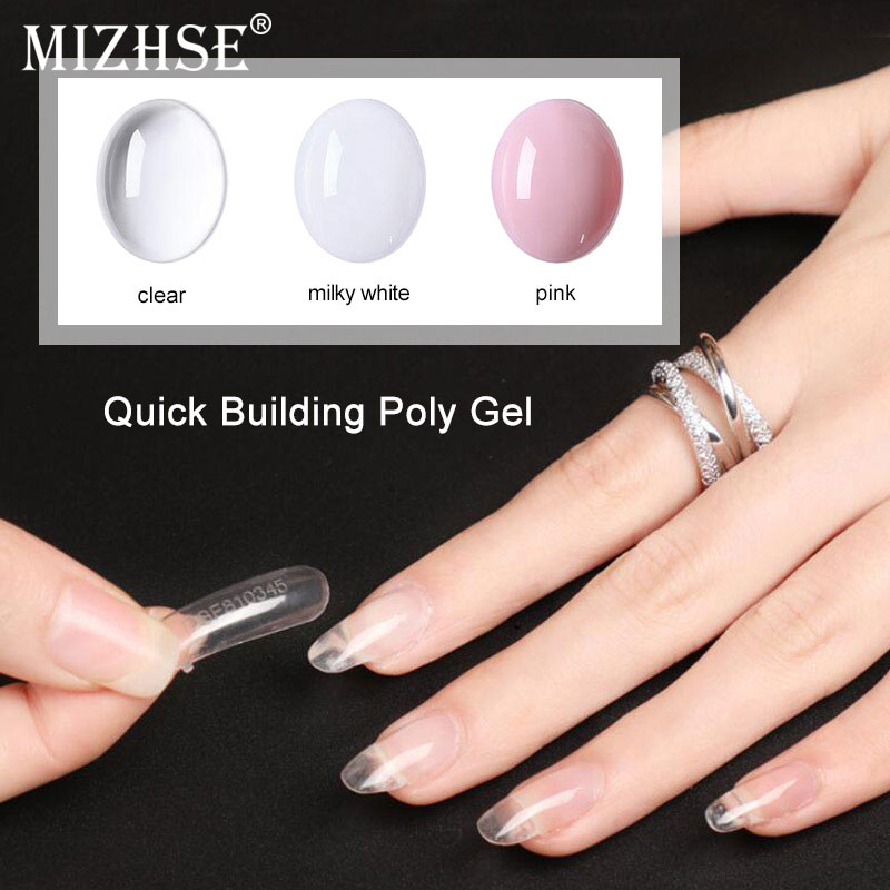 MIZHSE Poly Gel Nails Builder Poligel Nail Kit French Nail Art Camouflage Clear Color Fibreglass Hard Jelly Nail Extend Top Base bicycle helmet