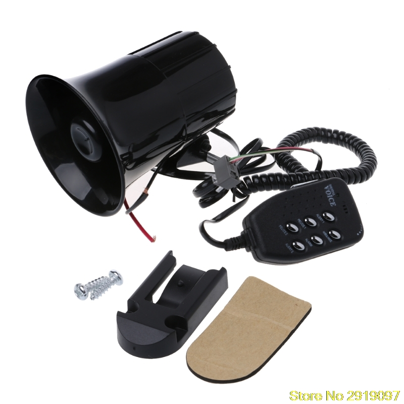 New 12V Loud 6 Sounds 150DB Air Horn Siren Speaker for Auto Car Boat Megaphone with MIC Loud Speaker Siren Drop Shipping Support
