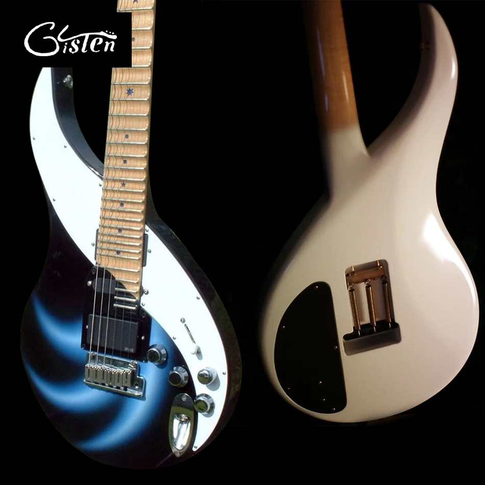 Gisten High-quality OEM electric guitar, Maple fingerboard electric guitar, Chrome hardware, tremolo bridge, free shipping vicers guitars china maple fingerboard t ele caster electric guitar in stock free shipping