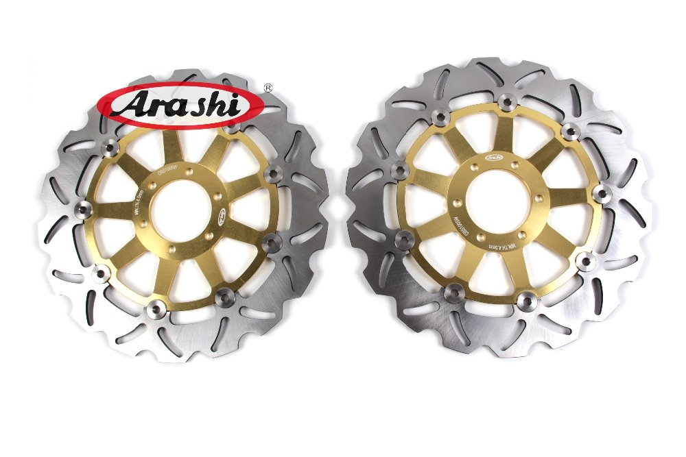 Arashi 1Pair For YAMAHA FZR 600 FZR 600 1989 CNC Floating Front Brake Disc Brake Rotors Motorcycle FZR600 XJR400 rear brake disc rotor for yamaha fz400 srx400 xjr400 fz600 fzr600 fzs600 srx600 xj600 yzf600 yzf750r tdm850 tdm900 yzf1000