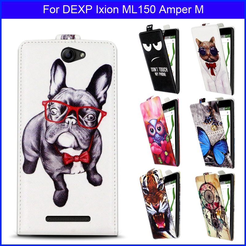 Factory price Fashion Patterns Cartoon Luxury Flip up and down PU Leather <font><b>Case</b></font> <font><b>for</b></font> <font><b>DEXP</b></font> <font><b>Ixion</b></font> <font><b>ML150</b></font> Amper M,Free gift image