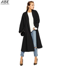 Gray Black Free Shipping Cardigan Women Wool Blend casual Poncho Plus Size Coat Women long Windbreaker vestidos Cardigans 22P