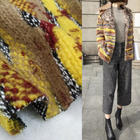 Wool jacquard fabric autumn and winter knitted woolen fabric coat fabric 650gsm