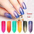 1PC Nail Gel 6ml Nail Art LED UV Termo Change Temperature Brilliant 24 Colors Alter Nail Gel Polish