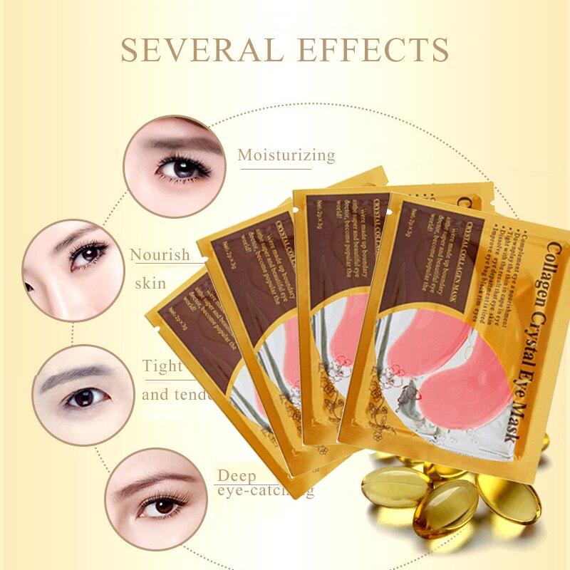 10 pcs = 5 paket Masker Mata Kristal Kolagen Mata Masker Patch untuk - Perawatan kulit - Foto 3