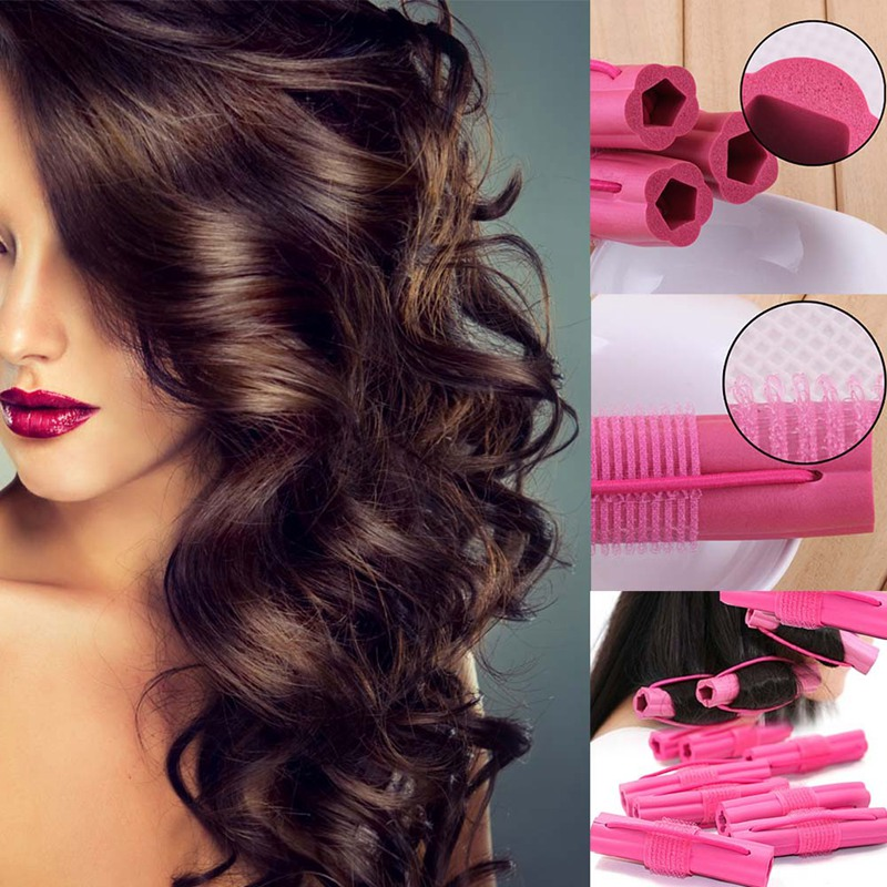 New Fashion 6pcs Magic Foam Sponge Hair Curler DIY Wavy Hair Travel Home Use Soft Hair Curler Rollers Styling Tools