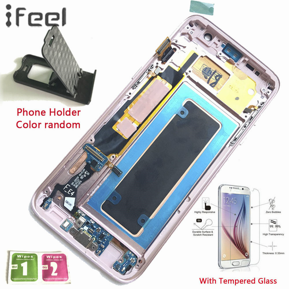IFEEL 100% Tested LCD Display Touch Screen Digitizer With Frame For Samsung Galaxy S7 Edge G935 G935F G935FD G935W8 Super AMOLEDIFEEL 100% Tested LCD Display Touch Screen Digitizer With Frame For Samsung Galaxy S7 Edge G935 G935F G935FD G935W8 Super AMOLED