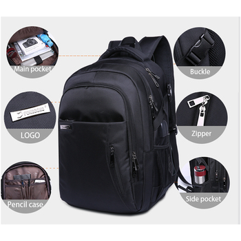 2018 Male Multifunction USB Charging fashion business casual tourist anti-theft waterproof 15.6 inch Laptop men backpack