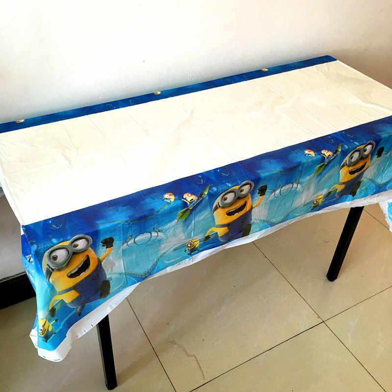 1 pc/lot tabel penutup Minion tema anak boy anak-anak dekorasi pesta ulang tahun nikmat minion tema taplak meja