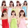 Kawaii Dos Desenhos Animados do sexo feminino de Flanela banho saia camisola pijama treino flanela arco Bra peito envolto toalhas roupão Vestes Das Mulheres