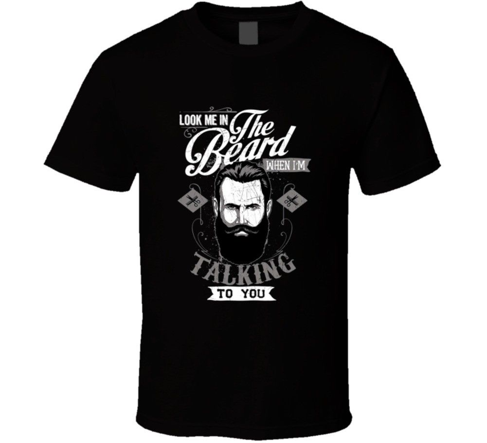 2019 Male Best Selling Look Me In The Beard Funny Hair Face Moustache Movember <font><b>Shave</b></font> T <font><b>Shirt</b></font> Summer Tee <font><b>Shirt</b></font> image