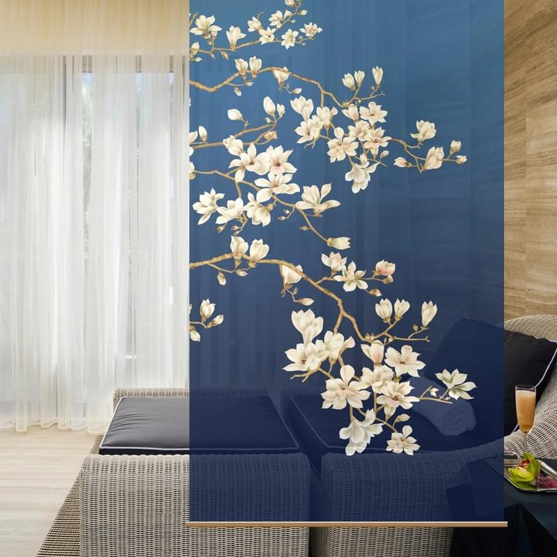100cmx200cm customizable fabric screen hanging curtain cut off the entrance soft cut off living room xuan guan guan ping roller