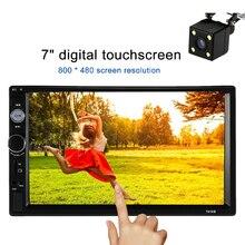 2 Din Car Radio MP5 Player Universal 7 inch HD BT USB/TF FM Aux Input Multimedia Radio Entertainment with Rear View Camera
