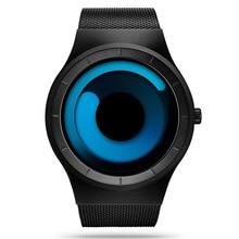 Men Watches Top Brand Luxury Watch Stainless Steel Mesh Digital Watch Men Fashion Aurora Style Bracelet Watch Relogio Masculino