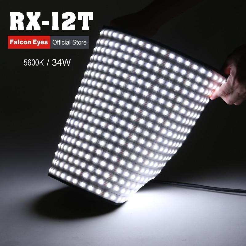 팔콘 아이즈 34W 카메라 비디오 조명 사진 라이트 휴대용 LED 사진 조명 280pcs 유연한 포토 램프 RX-12T
