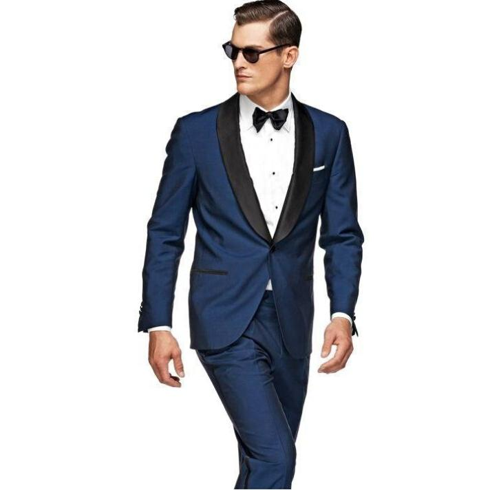 Black Blue One On Wedding Suits For Mens The Best Groomsman Business Party Men Tuxedos Pant Jacket Tie In From S Clothing