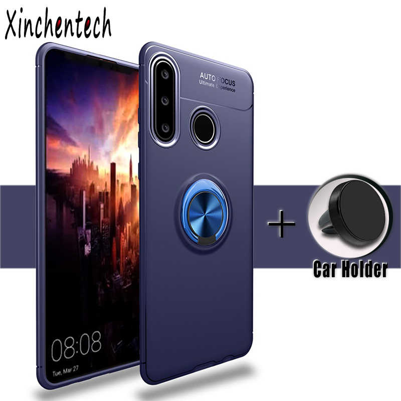 negozio online 36fc8 ad385 Cases For Huawei P30 Lite Case P30 Silicone Soft TPU Back Cover For Huawei  P20 P30 Pro Lite P 20 30 Case Fundas Magnet Bracket
