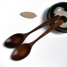 Лот деревянная ложка бамбуковая кухонная посуда инструмент суп чайная ложка Питание Прямая поставка# T2