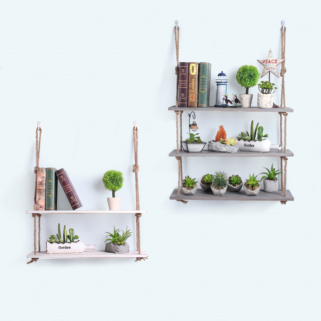 Creative Twine Racks Minimalist Wooden Wall Decoration Shelf Living Room  Wall Decoration Cafe Line Shelf Wall