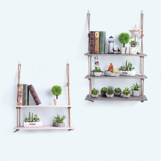 Kreative Schnur Racks Minimalistischen Holz Wand Dekoration Regal